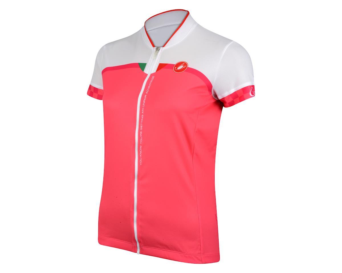 9246283a2 Castelli Women s Duello Short Sleeve Jersey (White Pink)  11-3588 ...