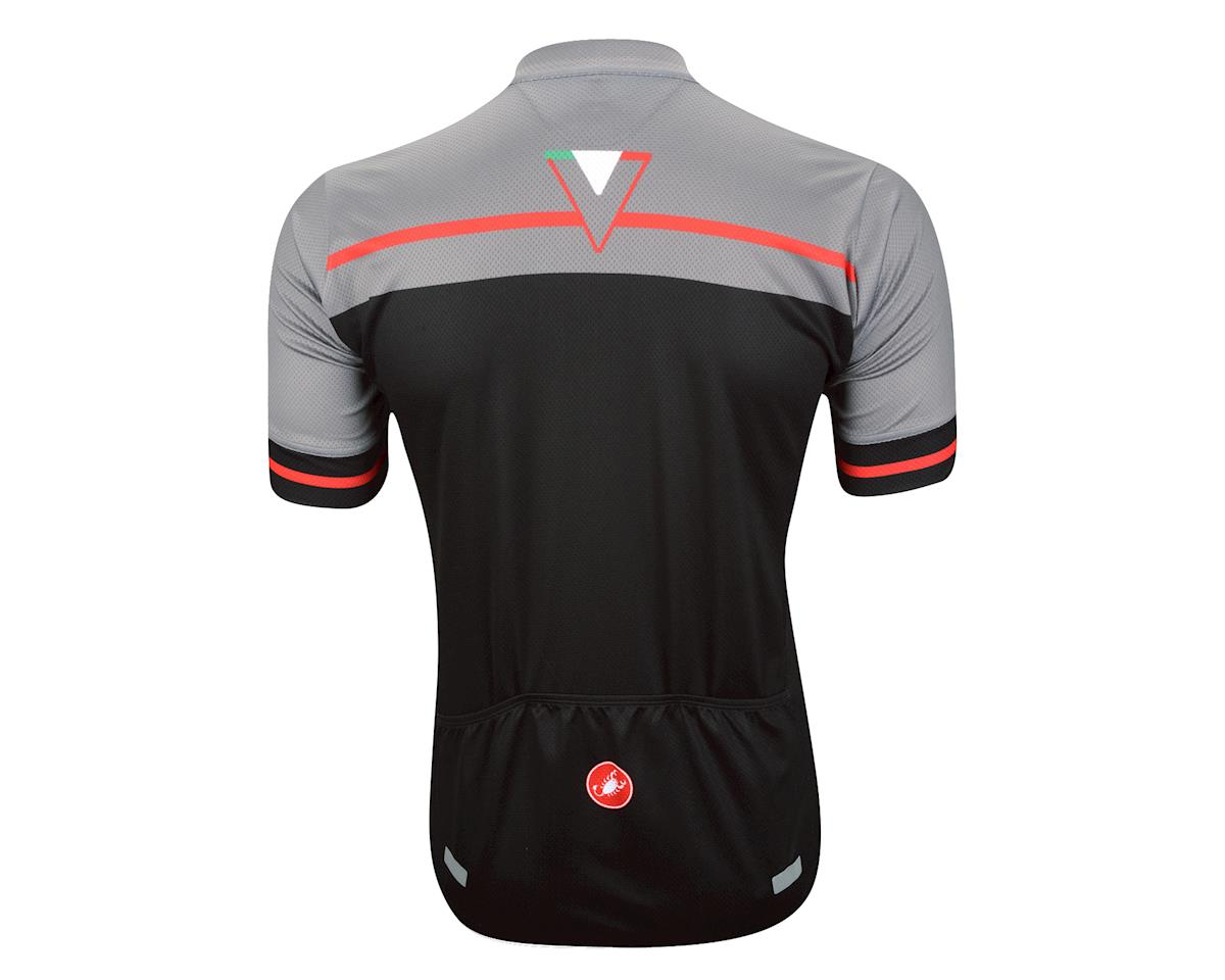 7e7680a85 ... Castelli Velocissimo Short Sleeve Jersey - Performance Exclusive (Matte  Black High Vis) ...