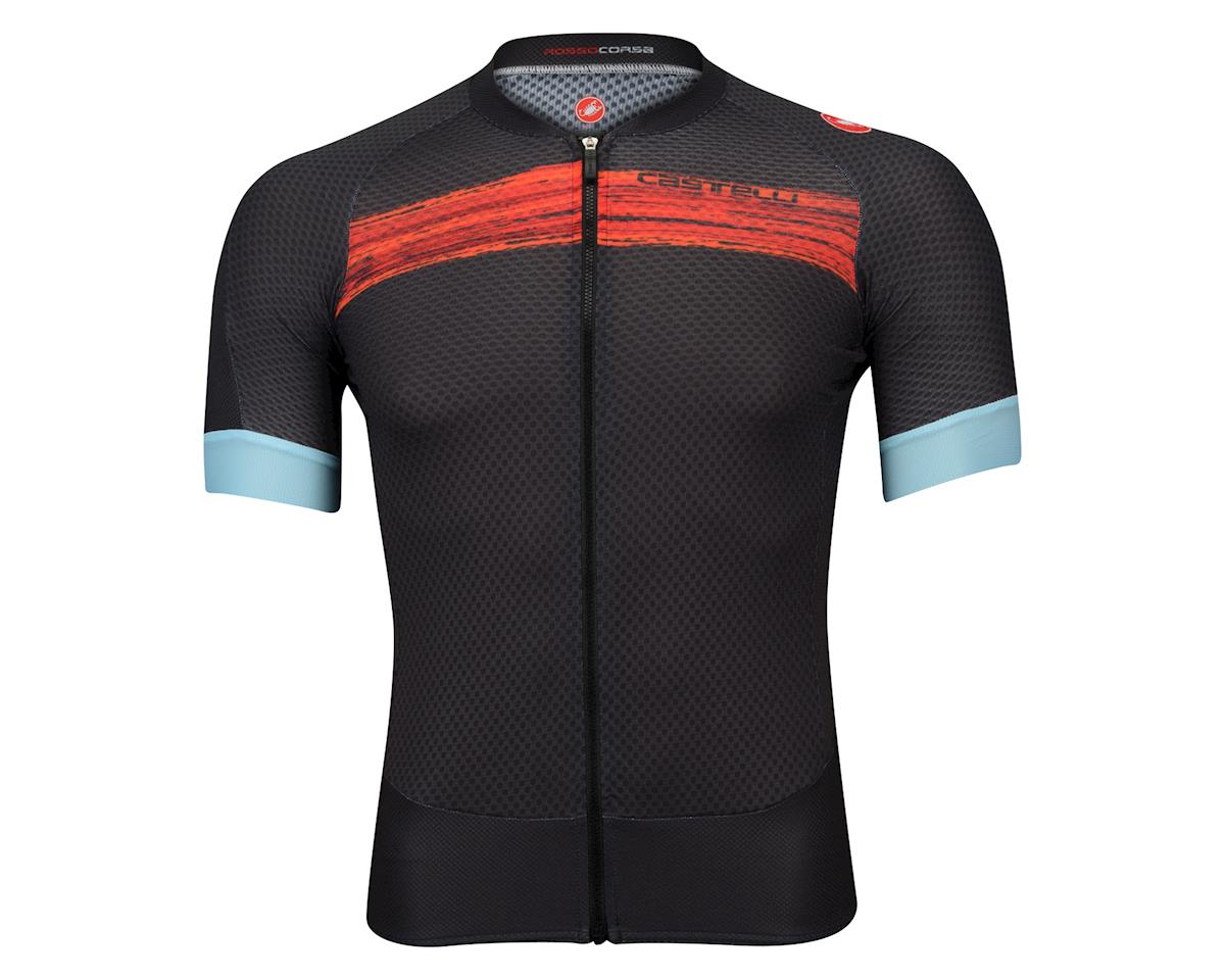 Castelli Climber's 2.0 FZ Short Sleeve Jersey (Matte Grey/Red)