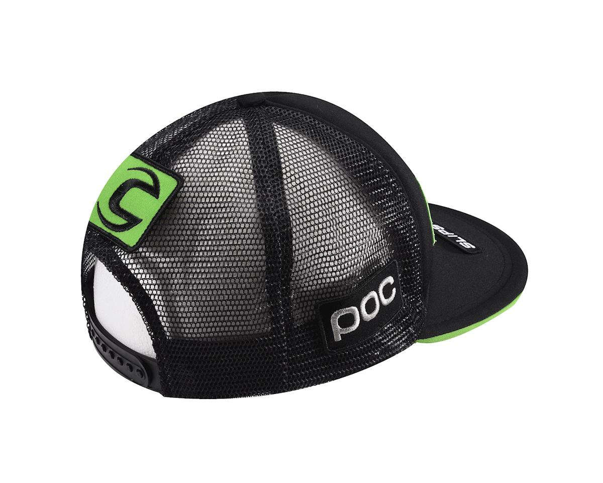 Castelli Cannondale Trucker Hat (Black/Green) (One Size Fits All)