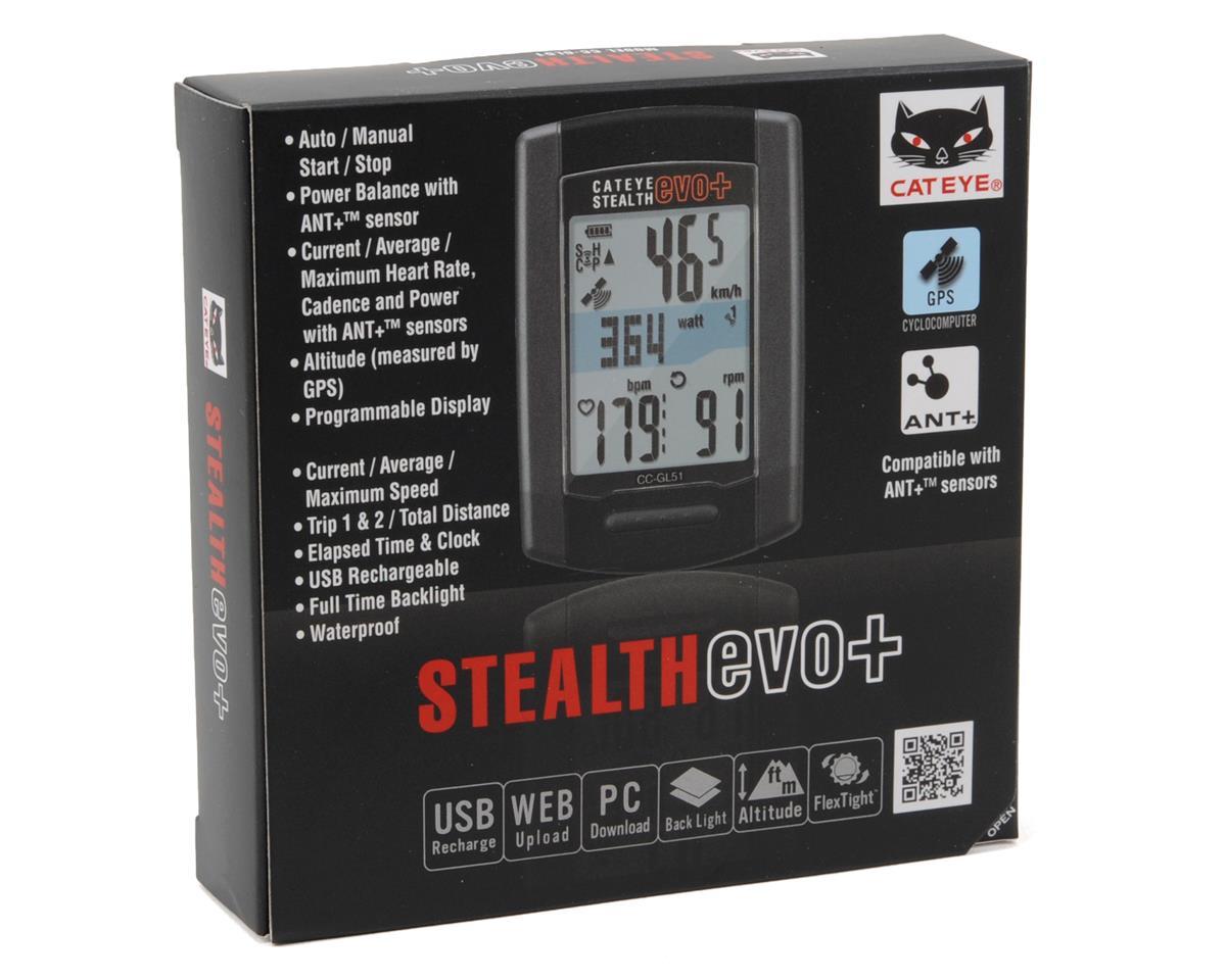 CatEye Stealth Evo+ GPS Bike Computer (Black)