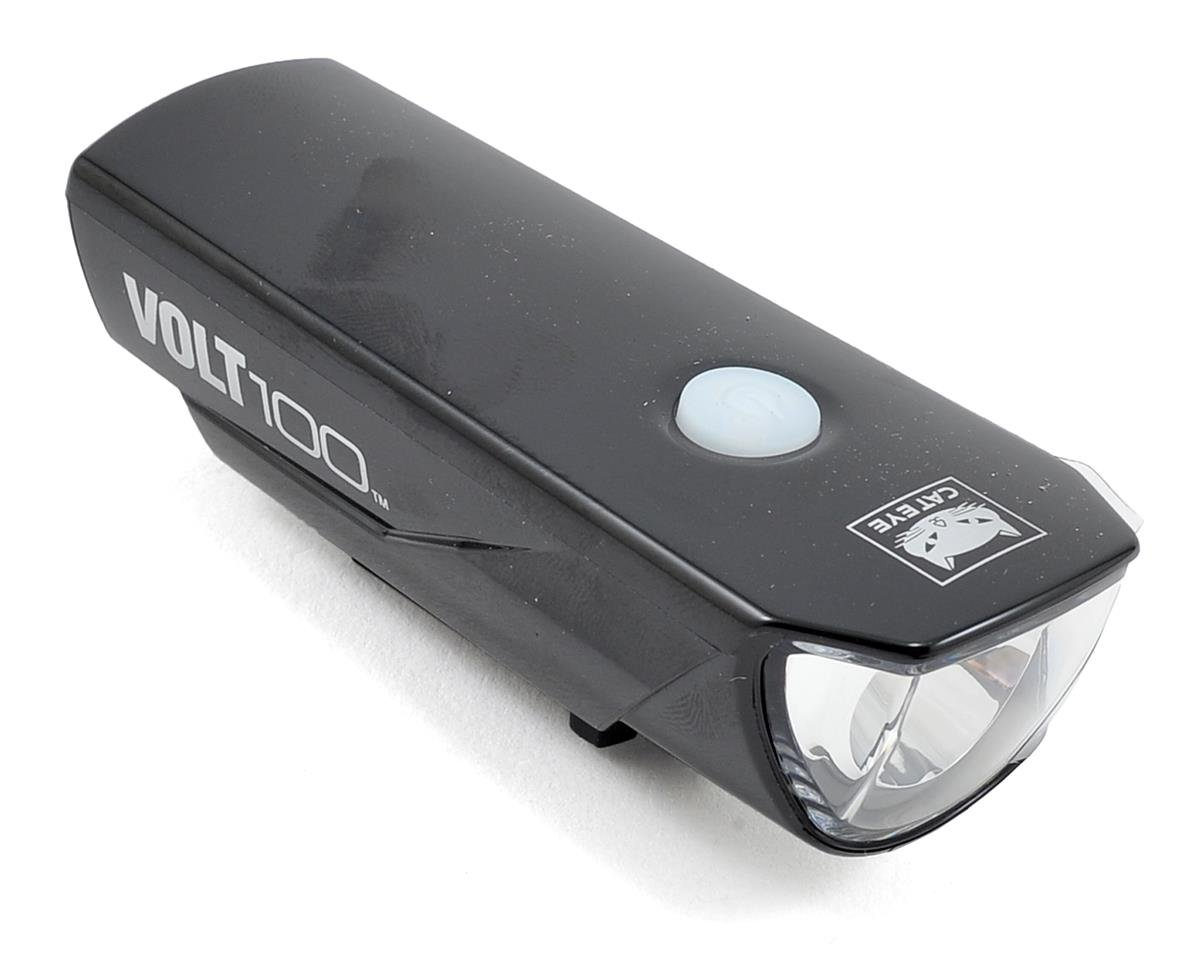 Volt 100 Rechargeable Bike Headlight (Chrome Black)