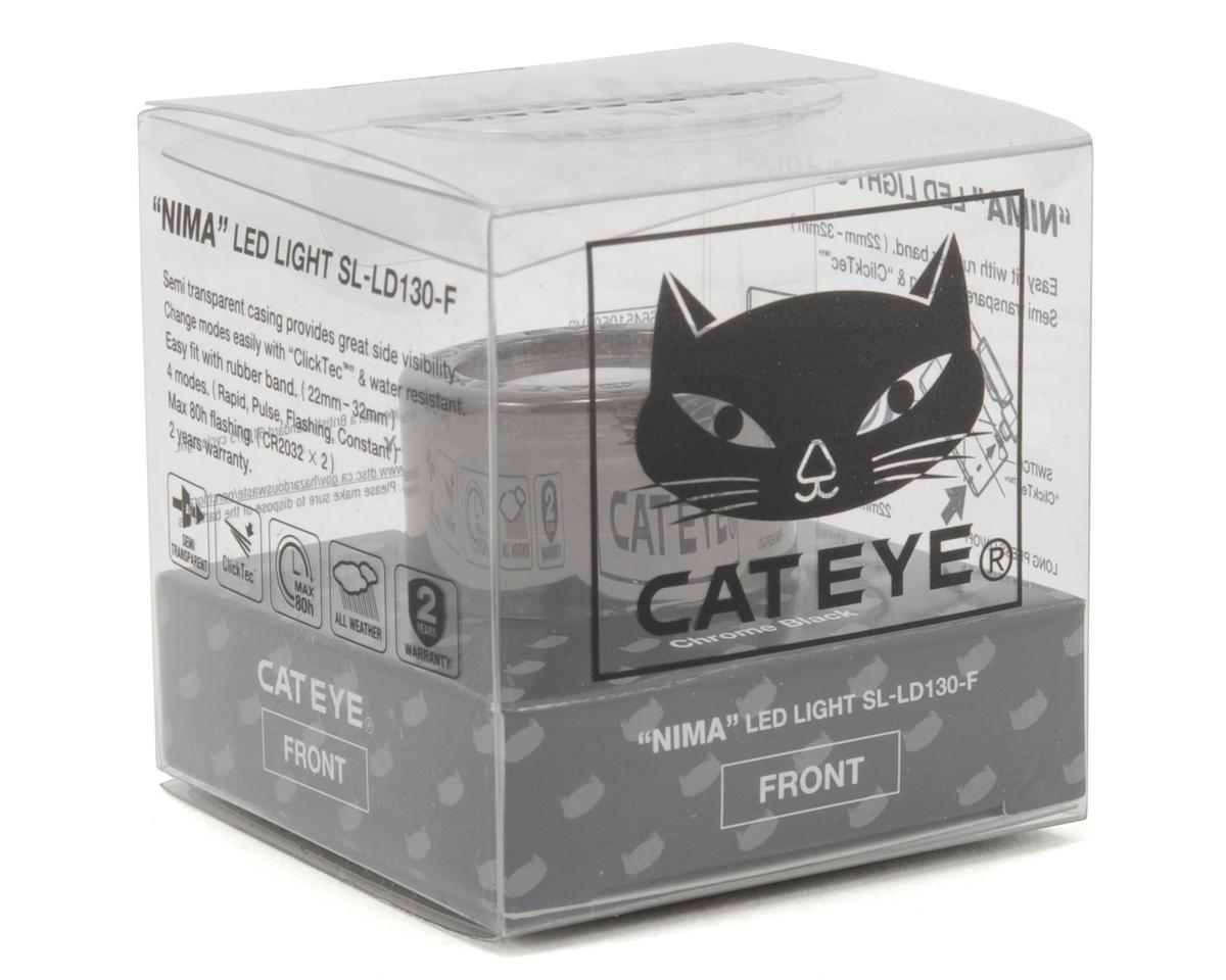 CatEye Nima Bike Headlight (Black Chrome)