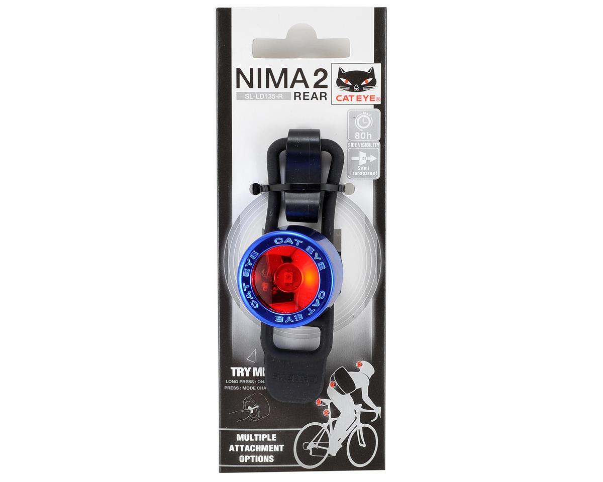 CatEye Nima 2 Red LED Bike Tail Light (Blue Chrome)