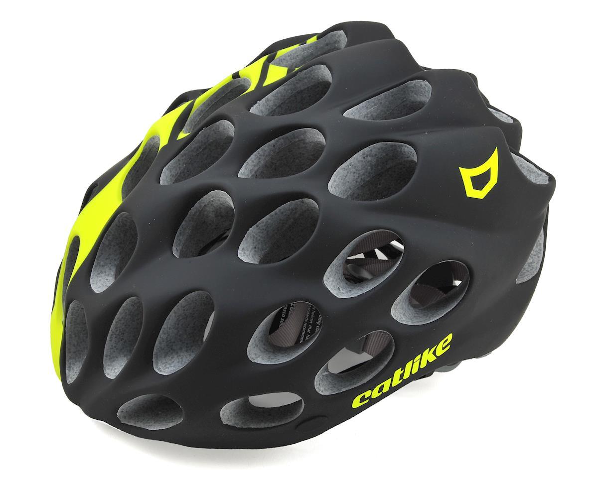Catlike Whisper Road Racing Helmet (Matte Black/Flourescent Yellow) (M)