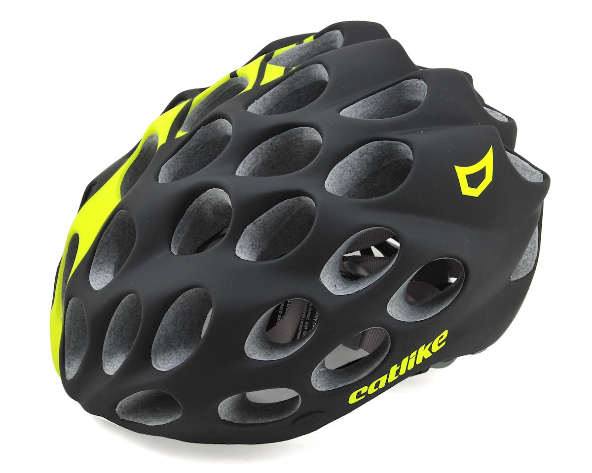 Catlike Whisper Road Racing Helmet (Matte Black/Flourescent Yellow)