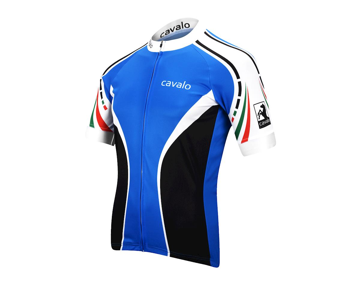 Image 1 for Cavalo Strada Jersey (Blue/Black/White)