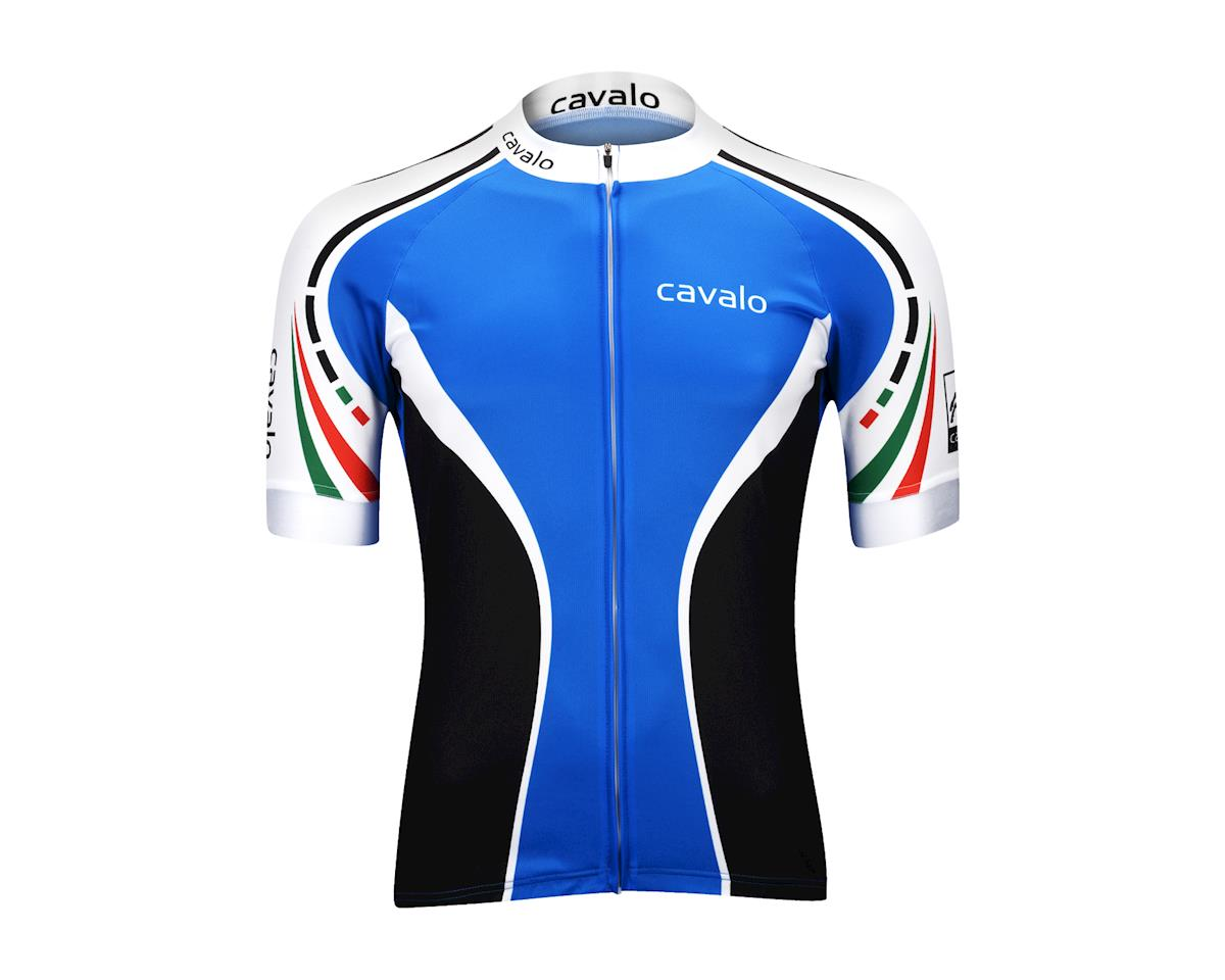 Image 2 for Cavalo Strada Jersey (Blue/Black/White)