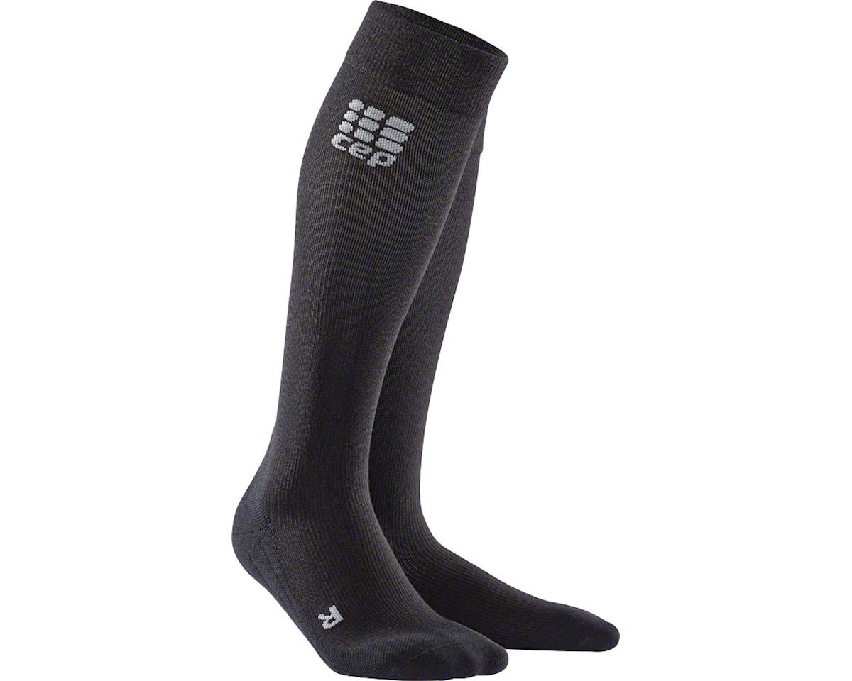 CEP Recovery+ Merino Compression Socks - 10 inch, Black, Women's, Small (M)