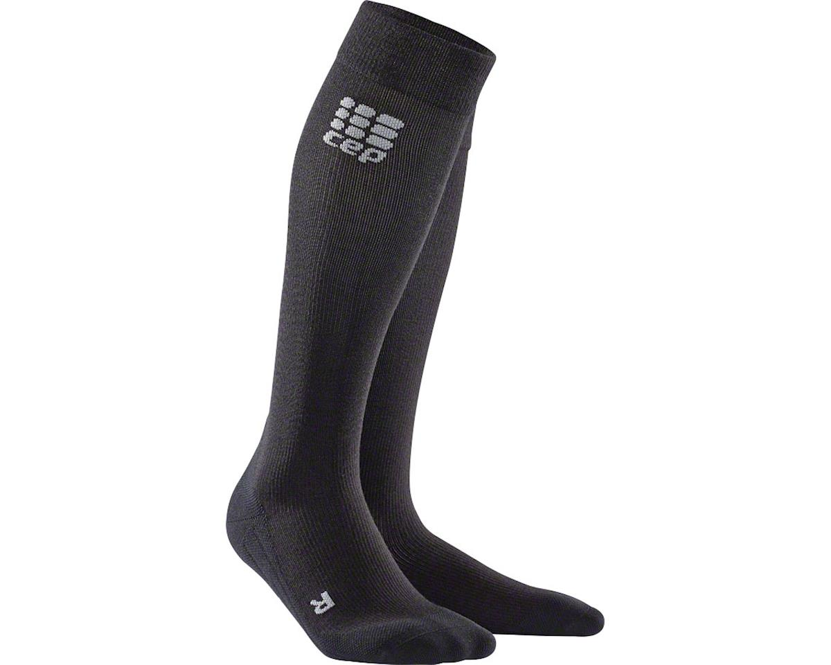 CEP Recovery+ Merino Compression Socks - 10 inch, Black, Men's, Medium (L)