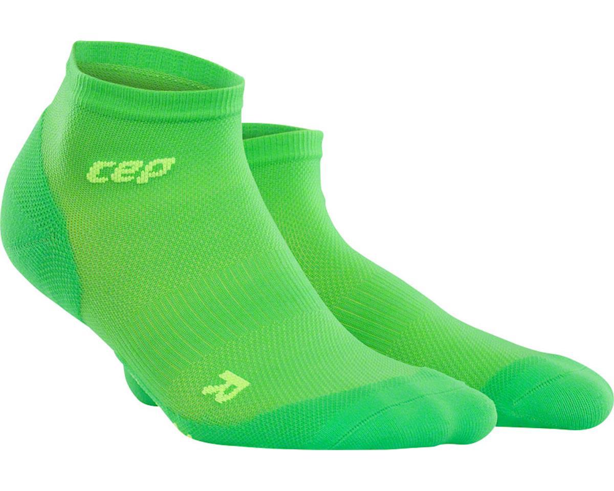 CEP Dynamic+ UltraLight Low Cut Women's Compression Sock (Green/White) (L)