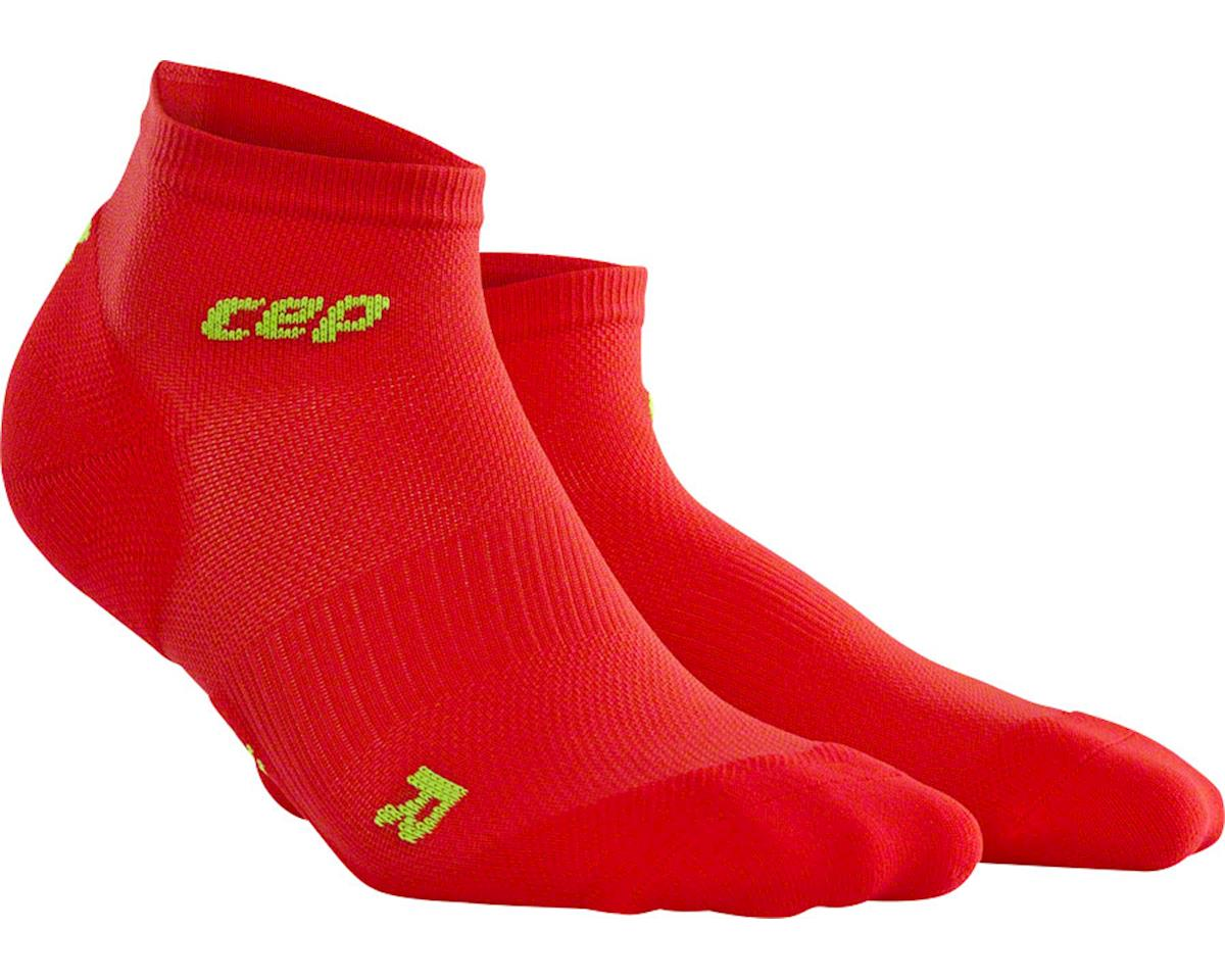CEP Dynamic+ UltraLight Low Cut Women's Compression Sock (Red/White) (L)