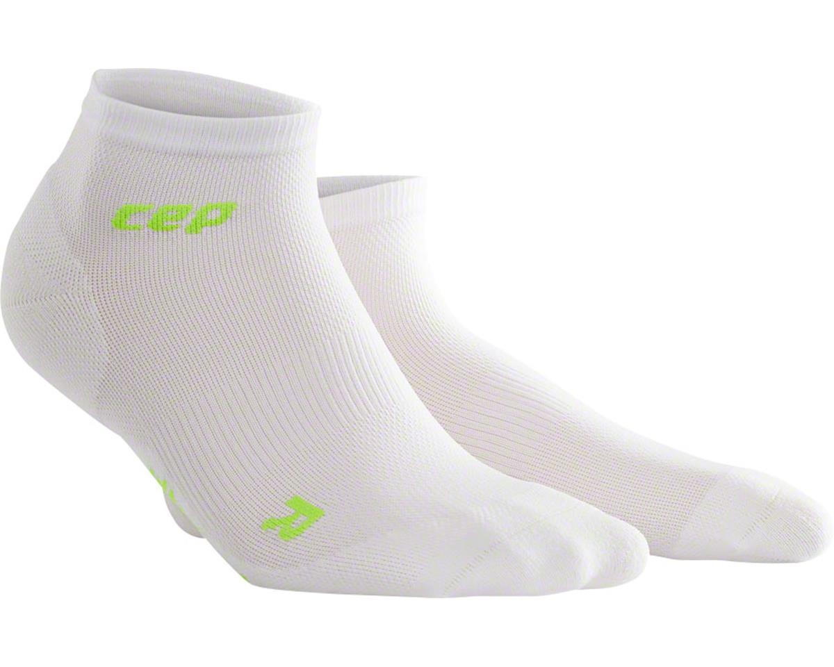CEP Dynamic+ UltraLight Low Cut Women's Compression Sock (White/Green) (L)