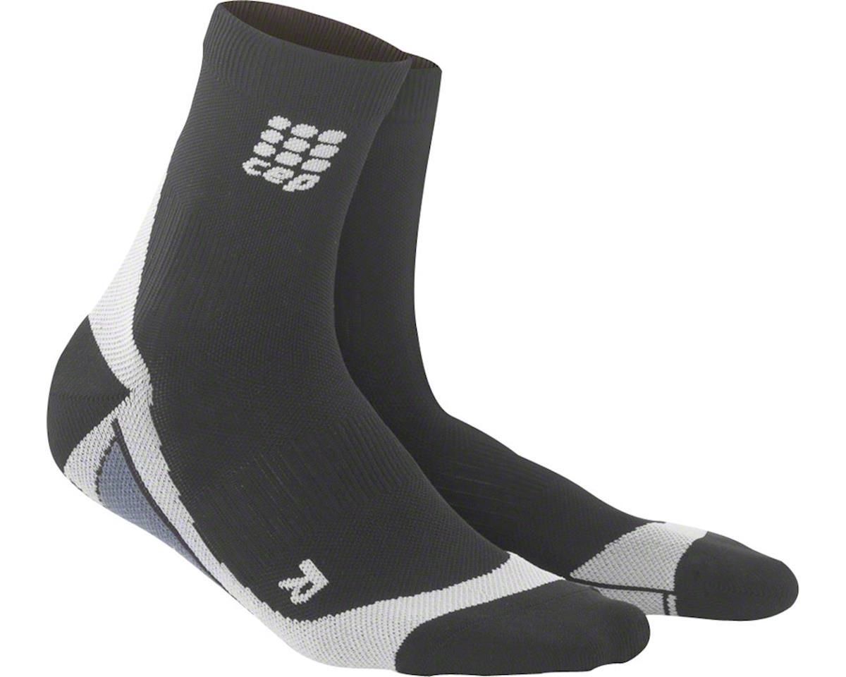 CEP Dynamic+ Short Women's Compression Sock: White/Black IV (L)