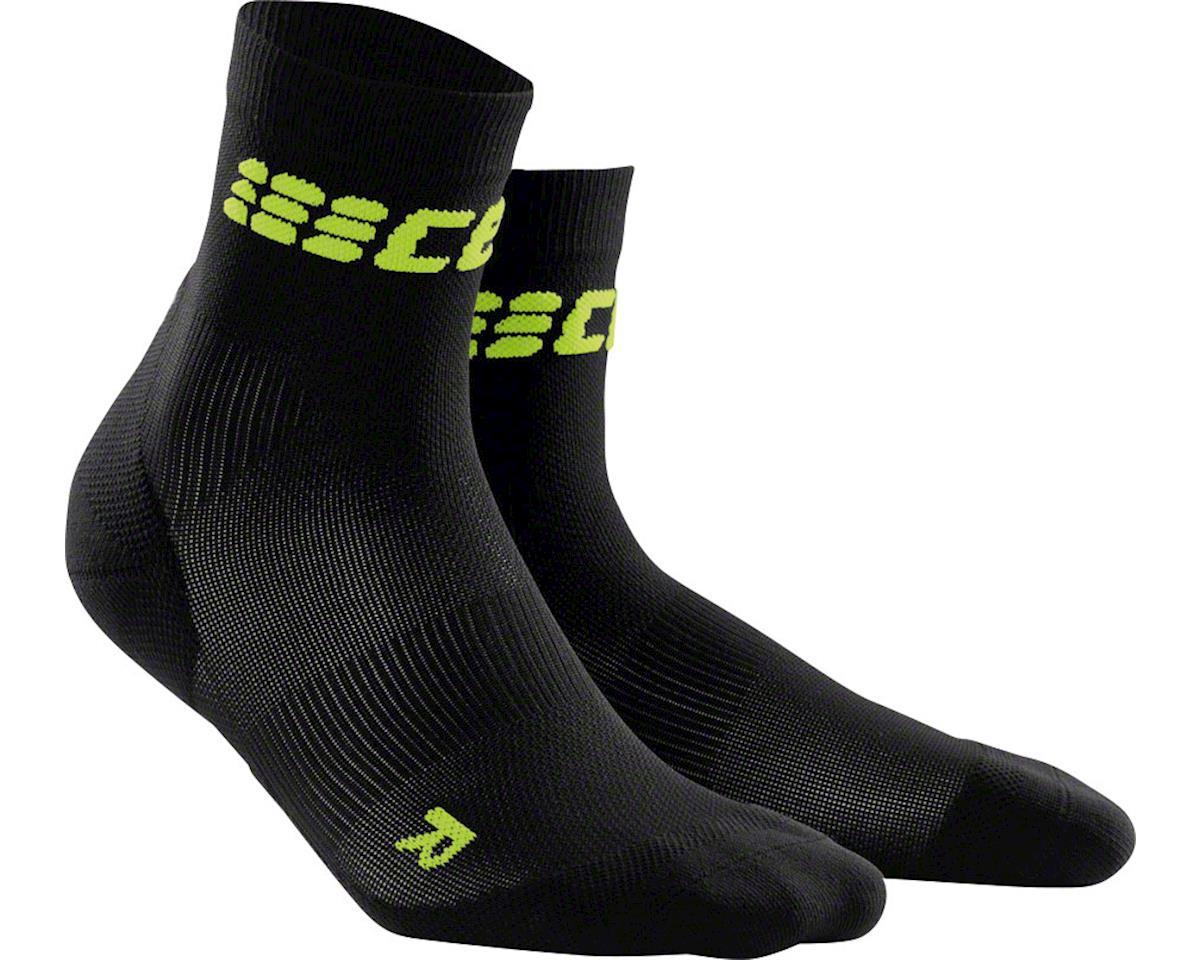 CEP Dynamic+ UltraLight Short Women's Compression Sock (Black/Green) (L)