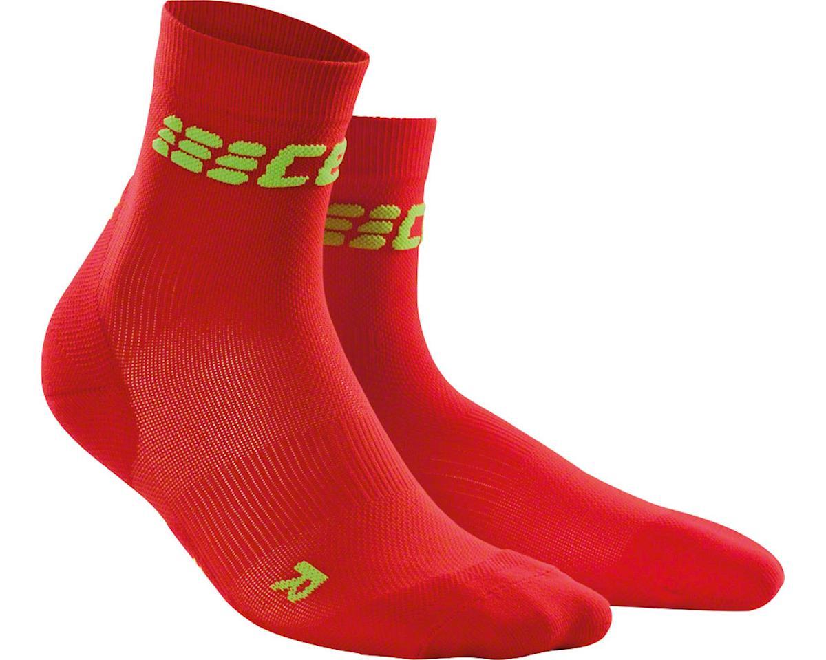 CEP Dynamic+ UltraLight Short Women's Compression Sock: White/Green IV (S)