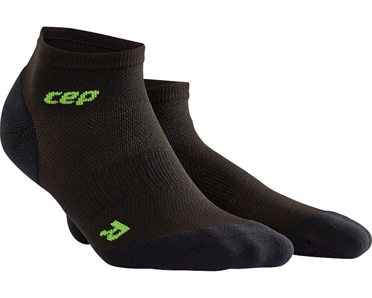 CEP Dynamic+ UltraLight Low Cut Men's Compression Sock: White/Green V