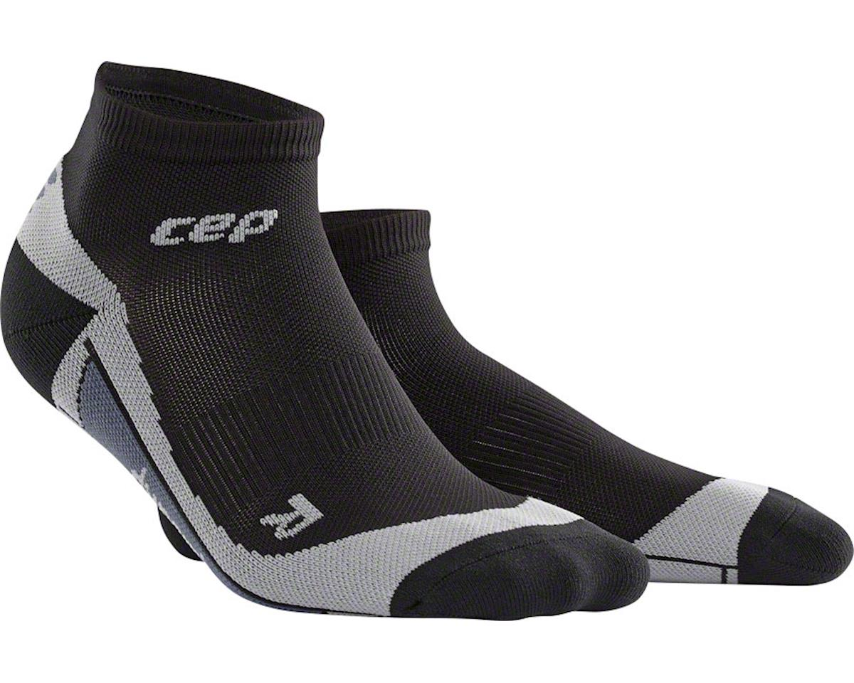 CEP Dynamic+ Low Cut Men's Compression Sock: White/Black V