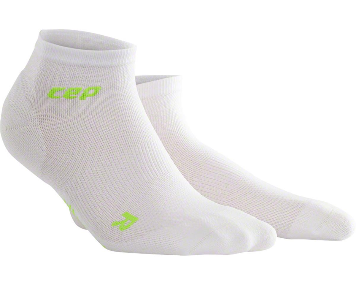 CEP Dynamic+ UltraLight Low Cut Men's Compression Sock (White/Green) (L)