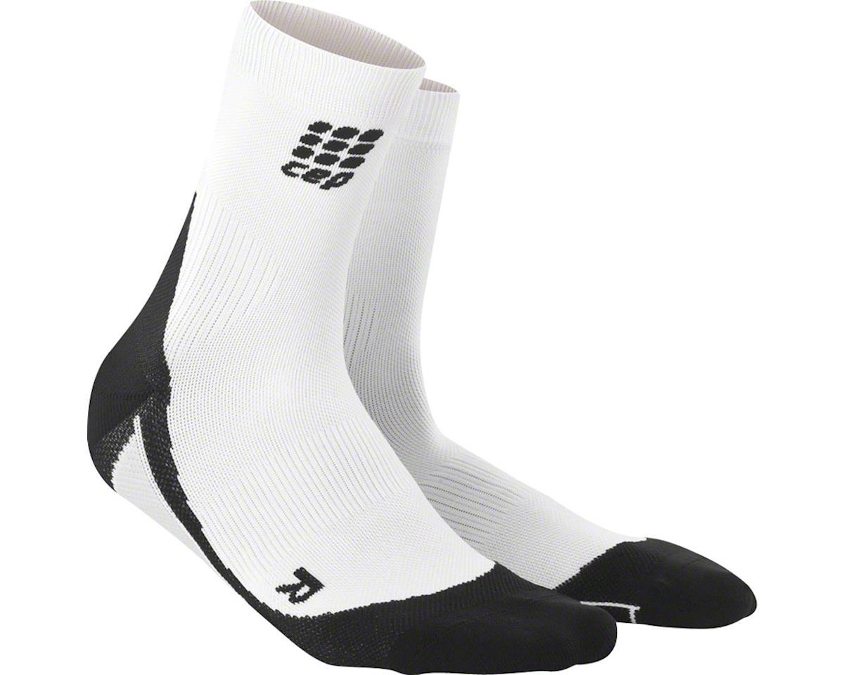 CEP Dynamic+ Short Men's Compression Sock: White/Black V (L)