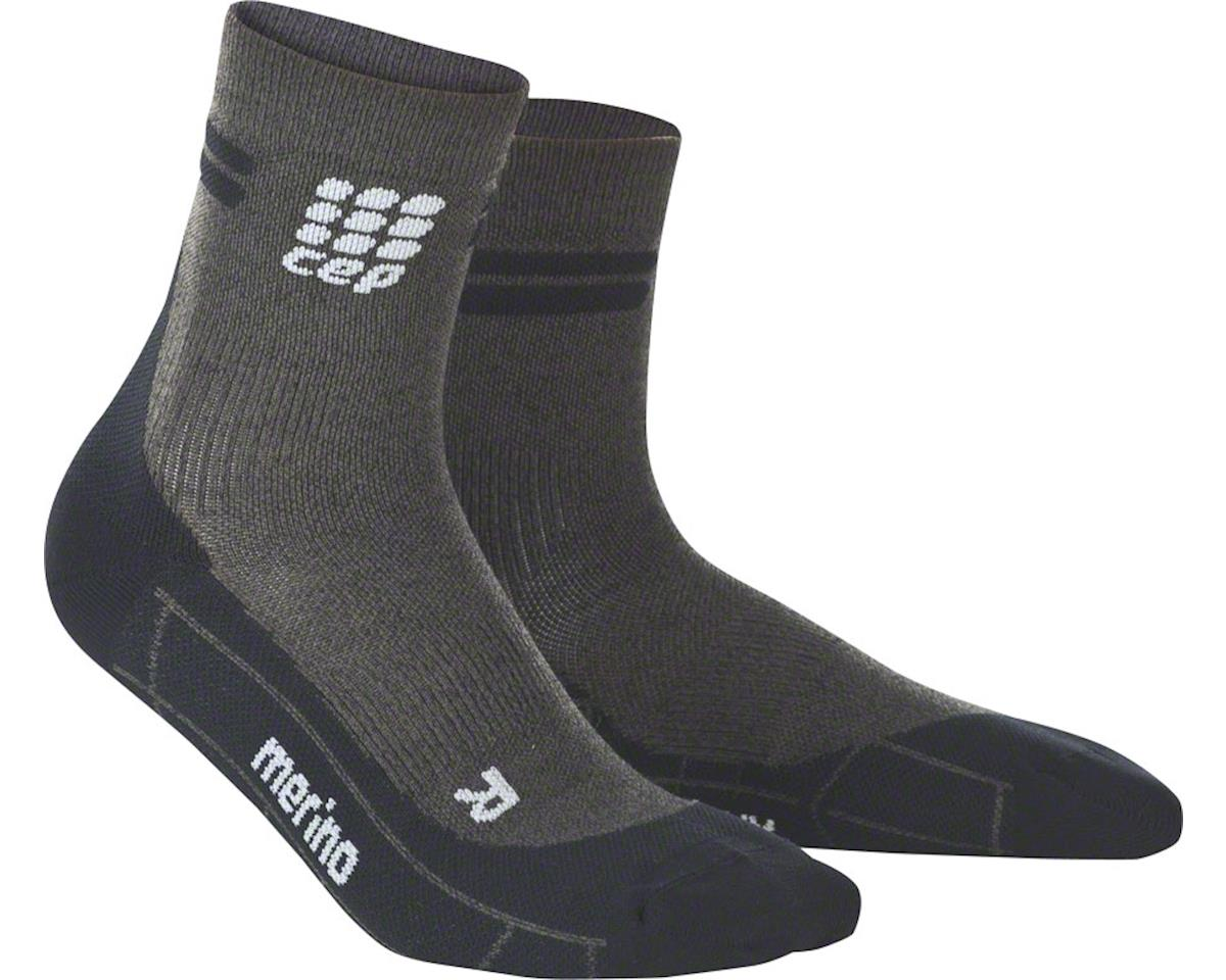 CEP Dynamic+ Merino Cycle Short Men's Socks: Anthracite/Black V