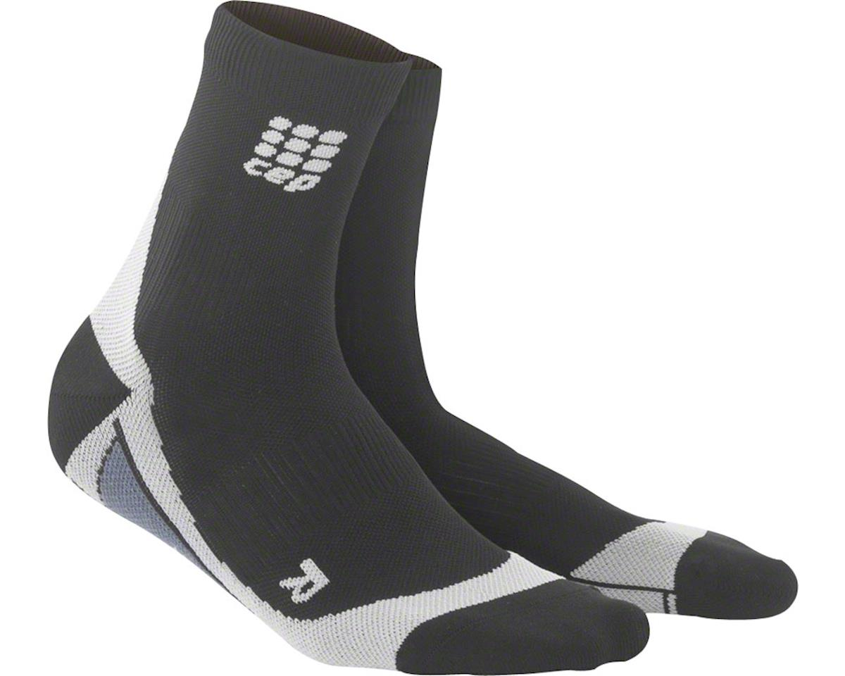CEP Dynamic+ Short Men's Compression Sock: White/Black V (XL)