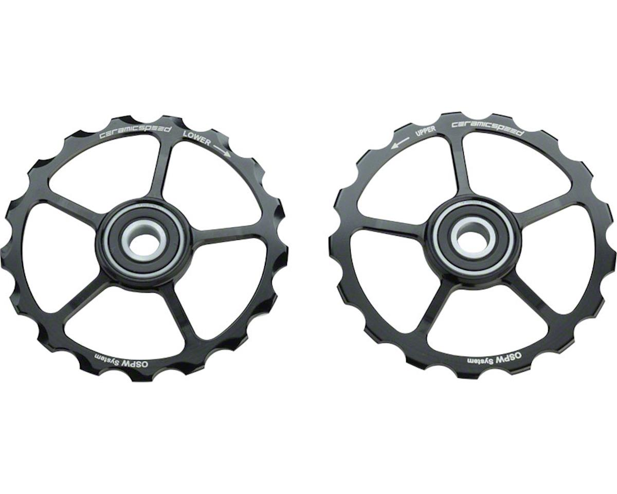 CeramicSpeed Spare Oversized Pulley Wheels: Coated, Alloy, Black