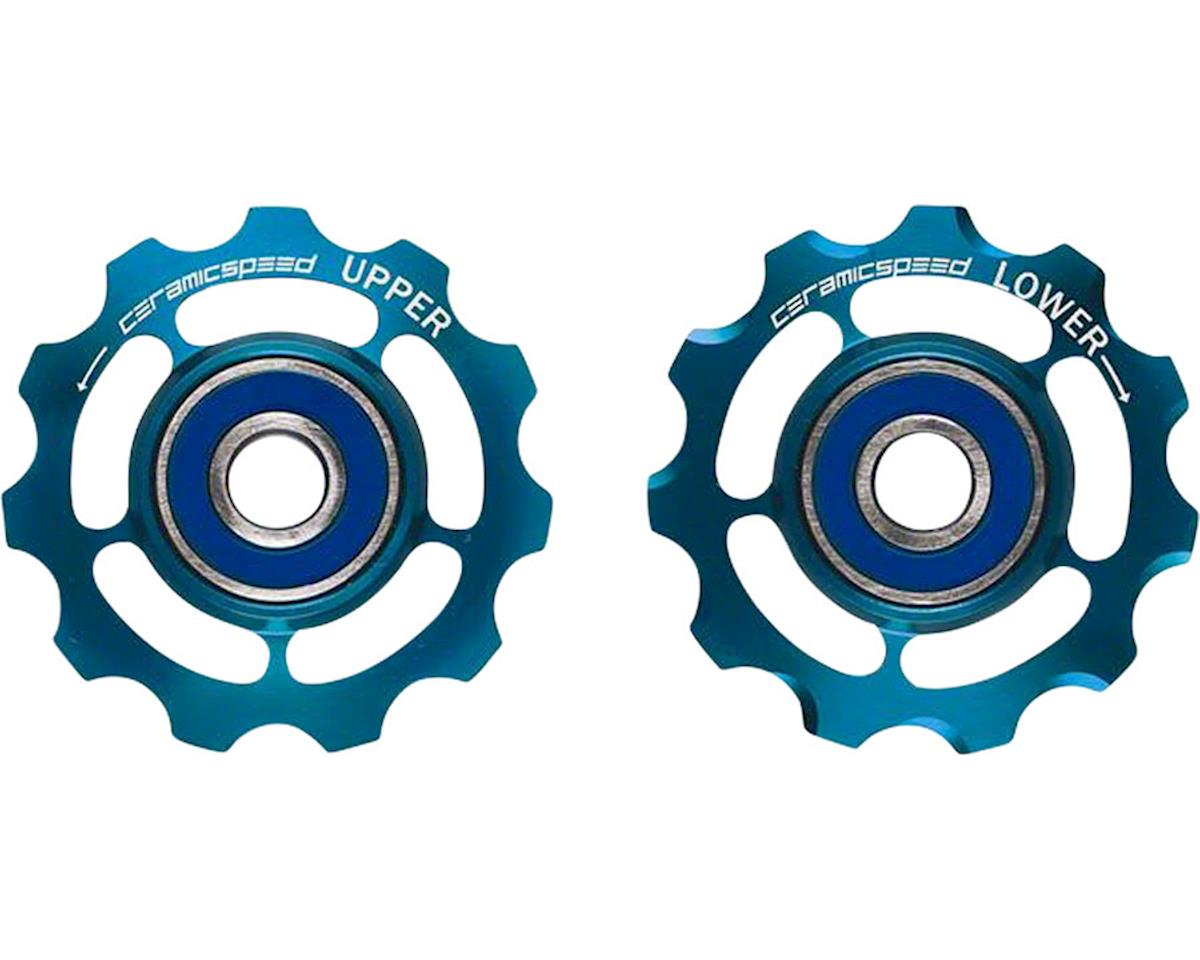 CeramicSpeed Shimano 11-speed Pulley Wheels: Coated, Alloy, Limited Edition Blue