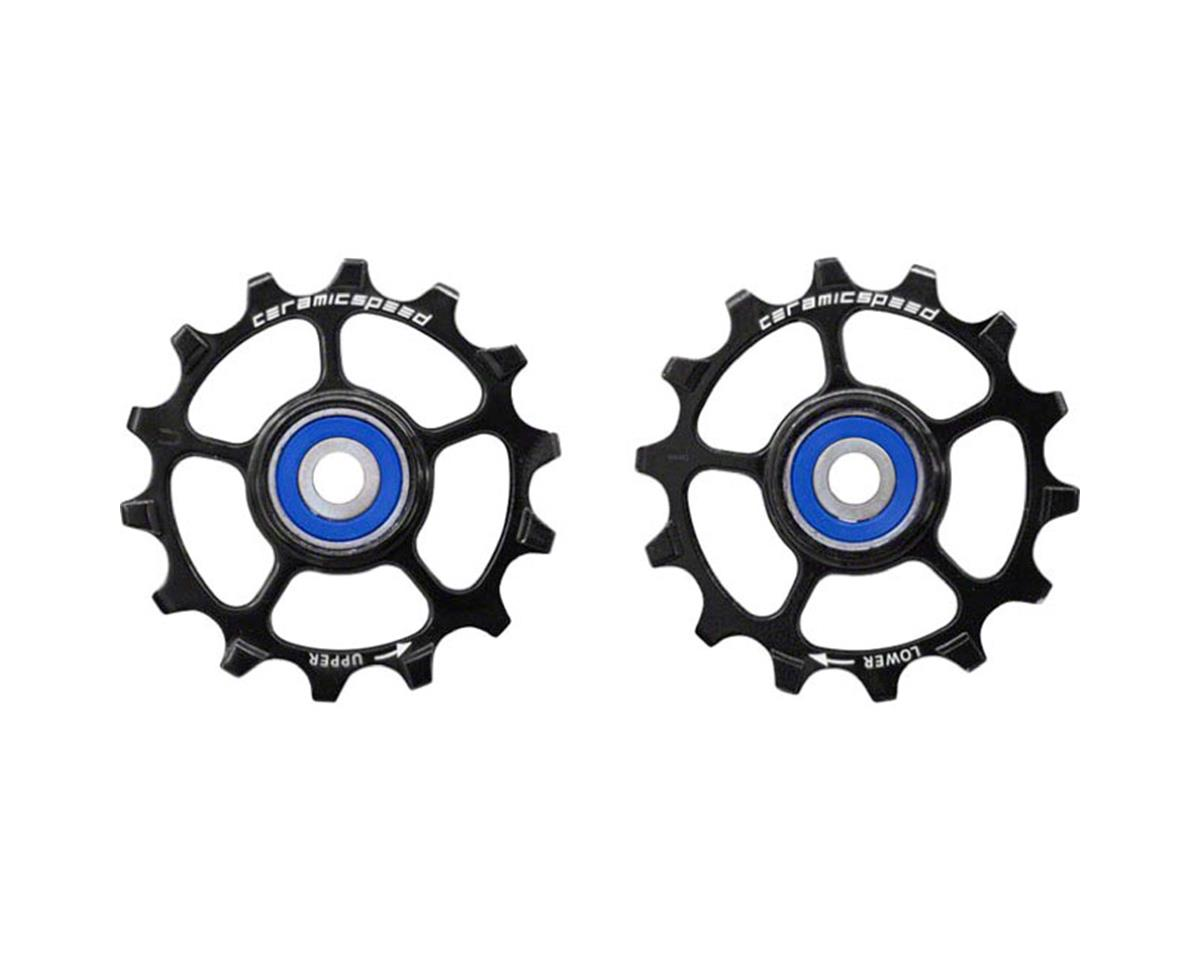 CeramicSpeed SRAM Eagle 14 1-12 Pulley Wheels: Stainless Steel, Black