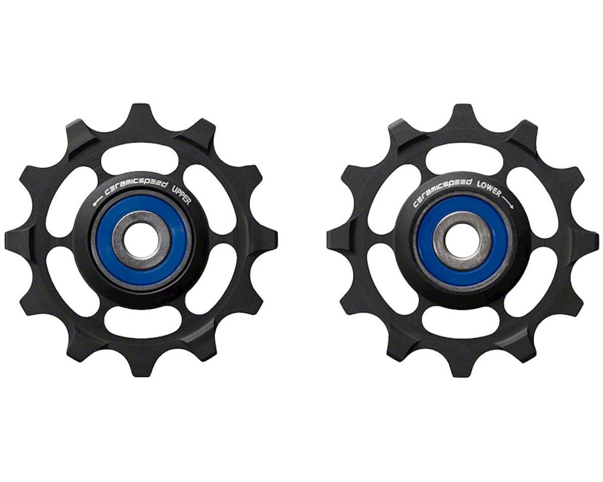 CeramicSpeed SRAM 1x11 Pulley Wheels: for SRAM 1x11 systems, Alloy, Black
