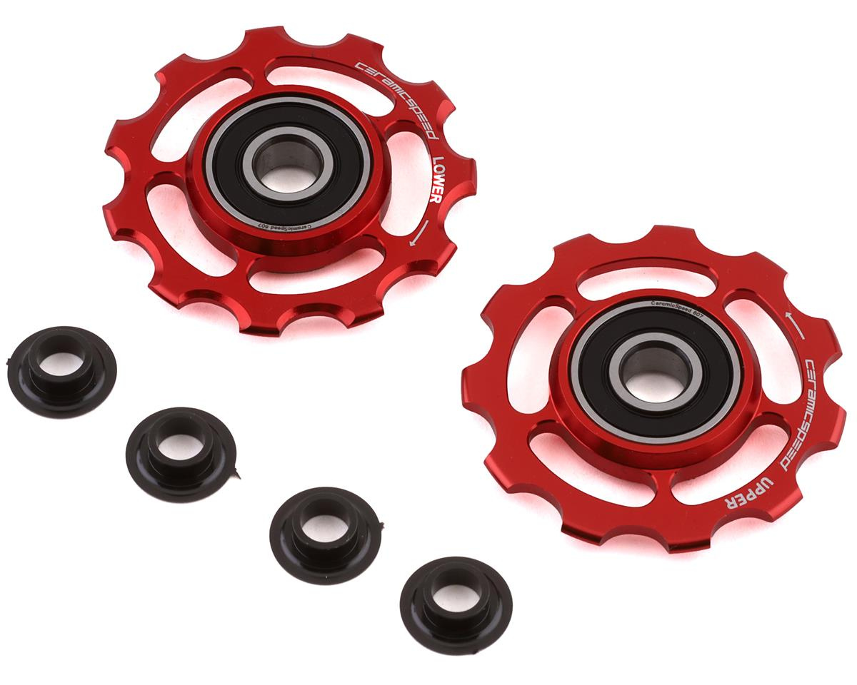 Ceramicspeed Shimano 11-speed Pulley Wheels: Alloy, Red