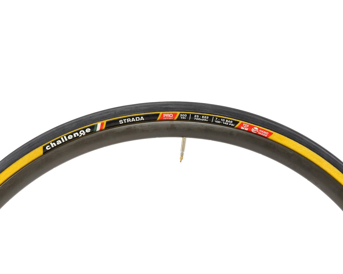 Challenge Strada Open Tubular Road Tire (Black Tread Tan Casing) (700 x 25)