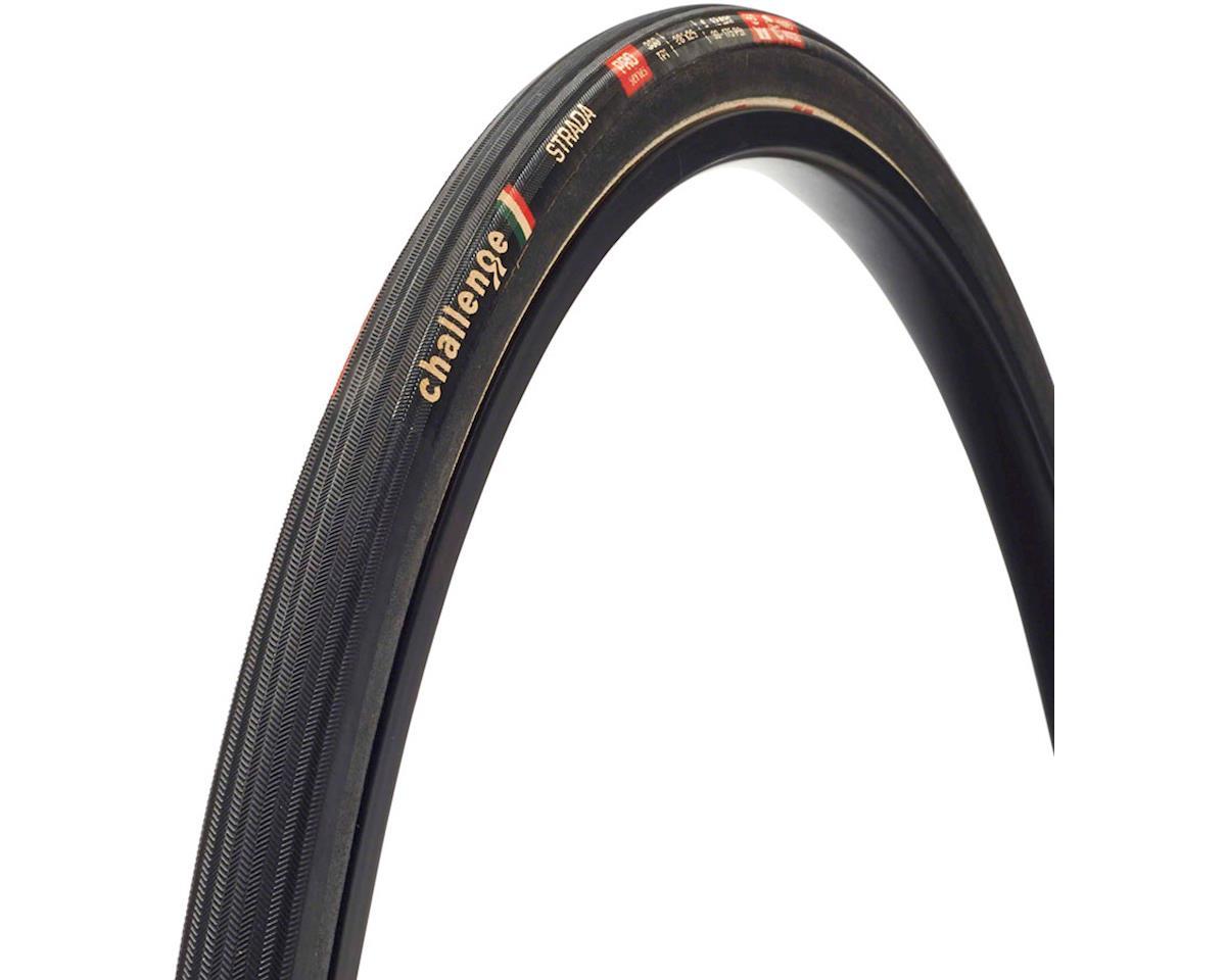 Challenge Strada Pro Tire: Handmade Clincher, 700x25, 300tpi, Black