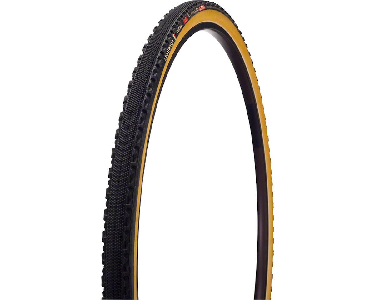 Challenge Chicane Pro Tire: Tubular, 700x33, 300tpi, Black/Tan