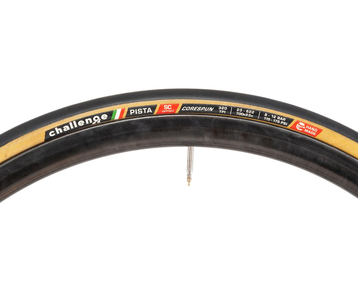 Challenge Pista Clincher Tire (Black/Tan) (700x23)