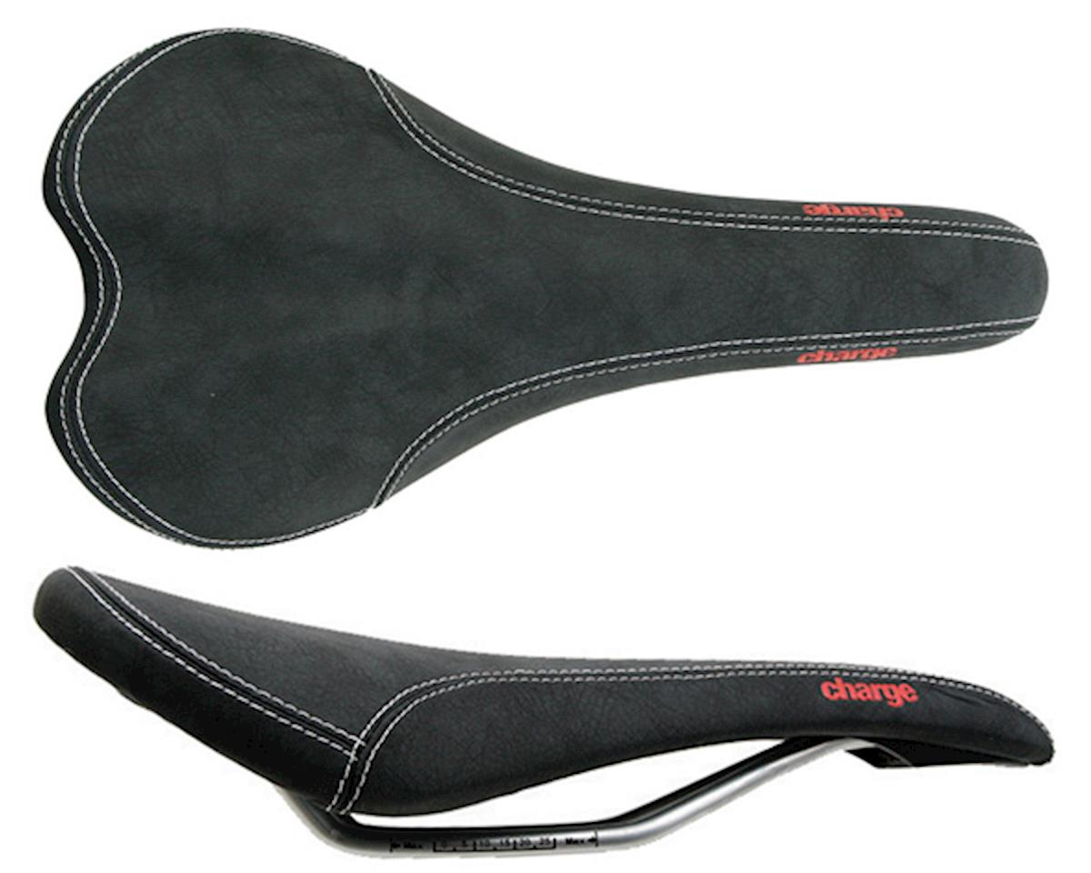 Charge Bikes Spoon saddle, CrMo - black/red logo