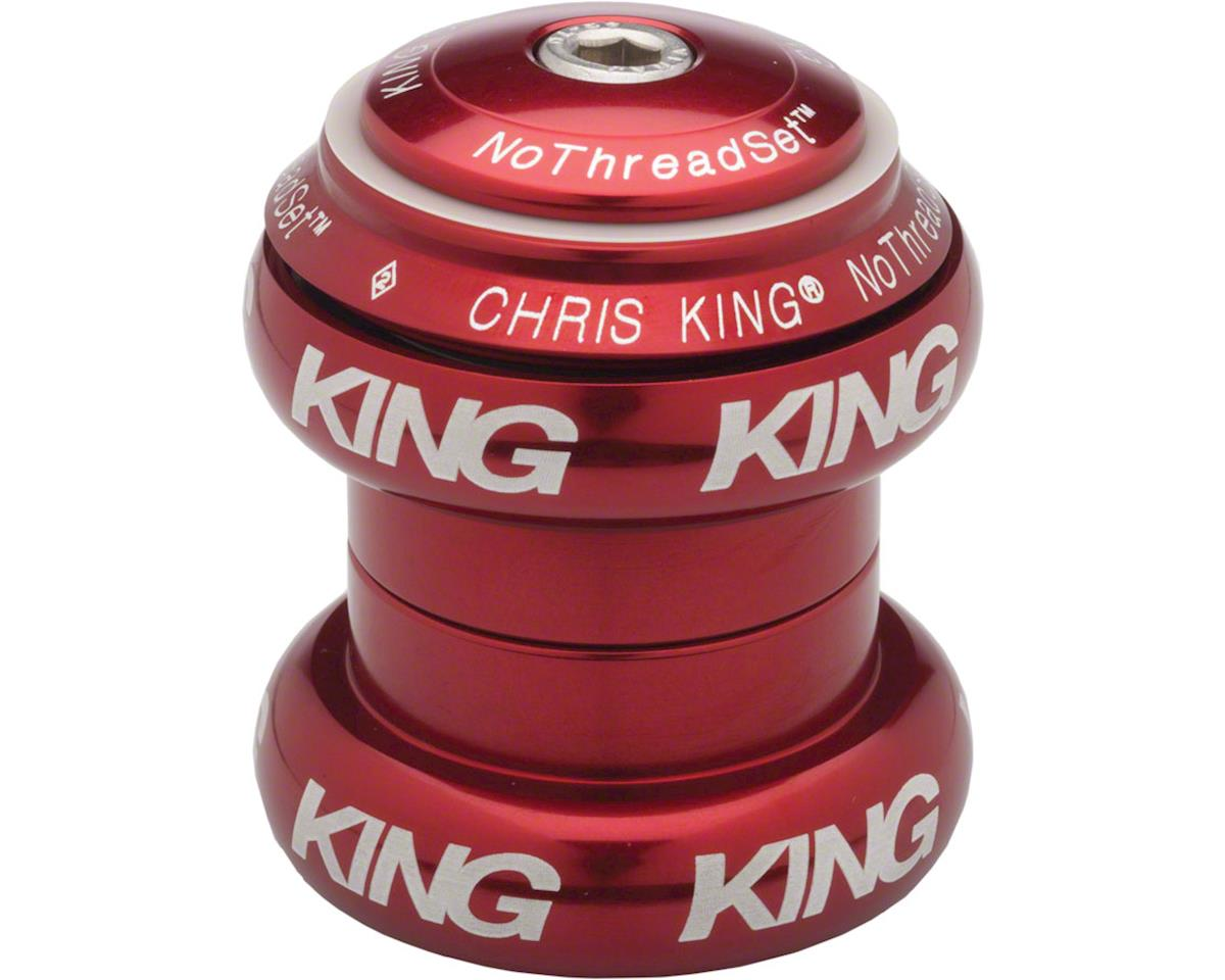 "Chris King NoThreadSet Headset, 1-1/8"" Red Bold"