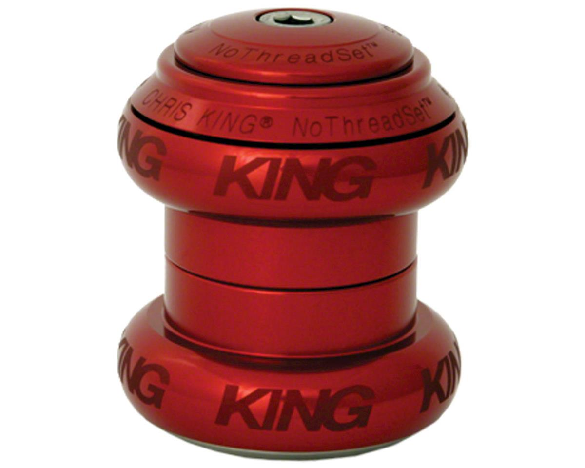 """Chris King NoThreadSet Headset, 1-1/8""""  Red Sotto Voce"""