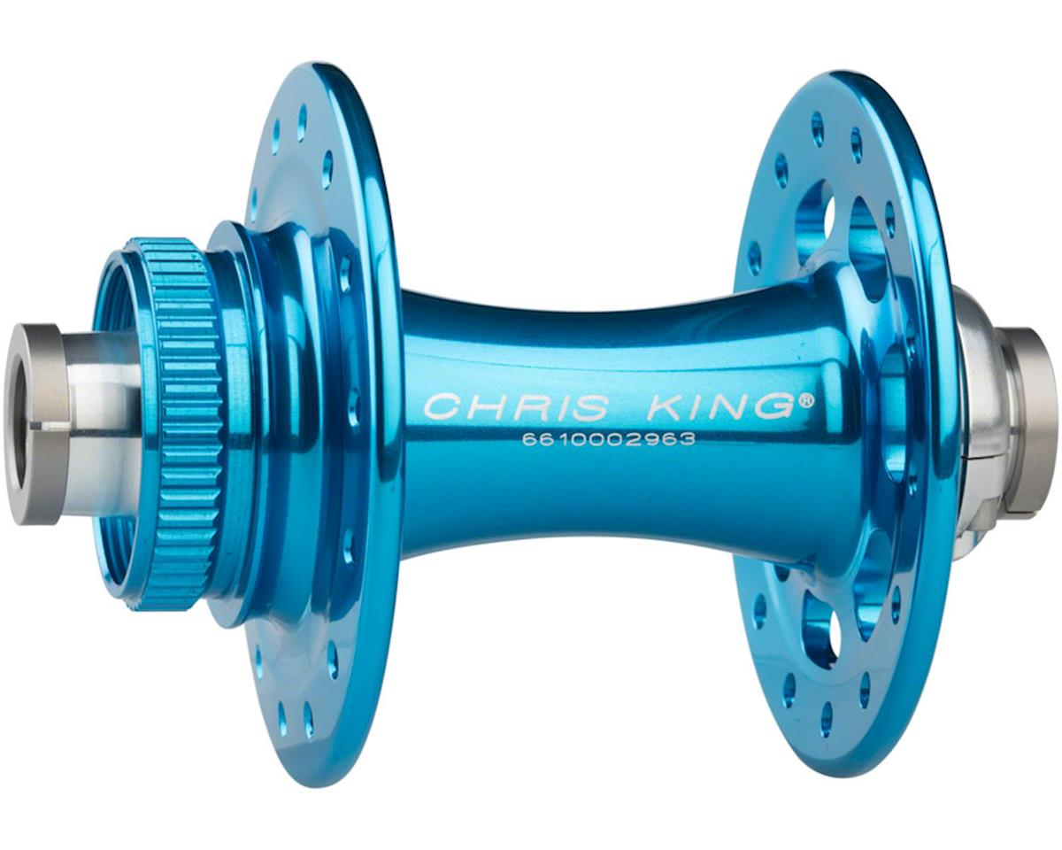 R45D 12mm Thru-Axle Front Centerlock Disc Hub, 28 Hole, Turquoise