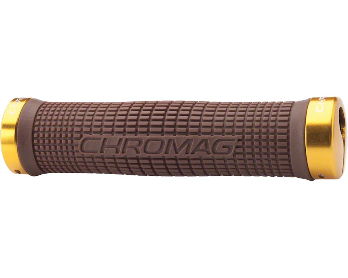 Chromag Squarewave Grips (Brown Grips) (Gold Clamps)