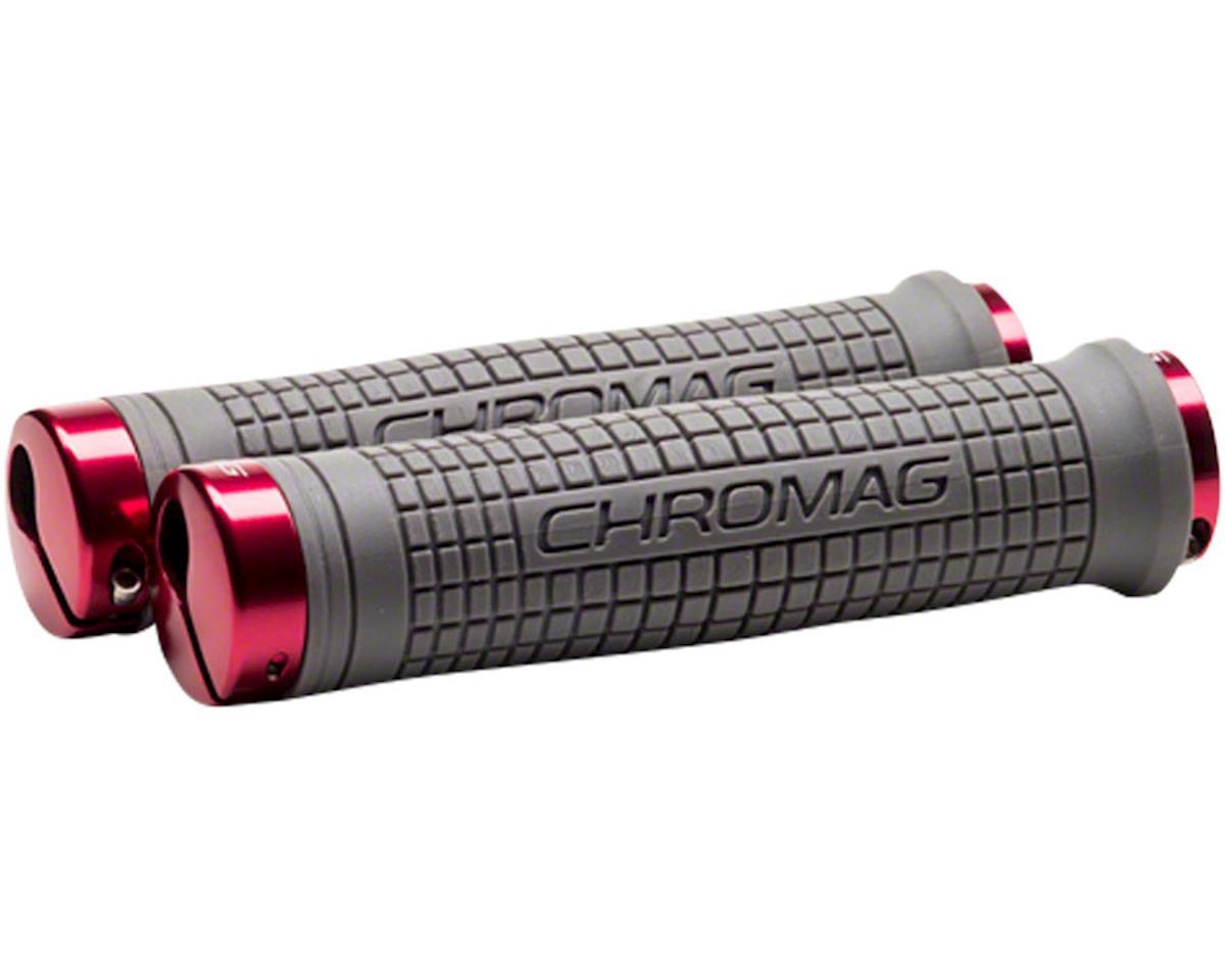 Chromag Squarewave XL Grips (Gray & Red)