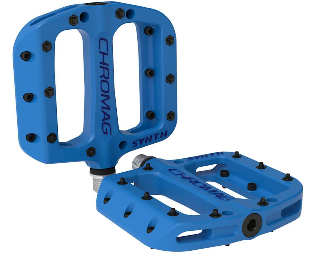 "Chromag Synth Composite Platform Pedals (Blue) (9/16"")"