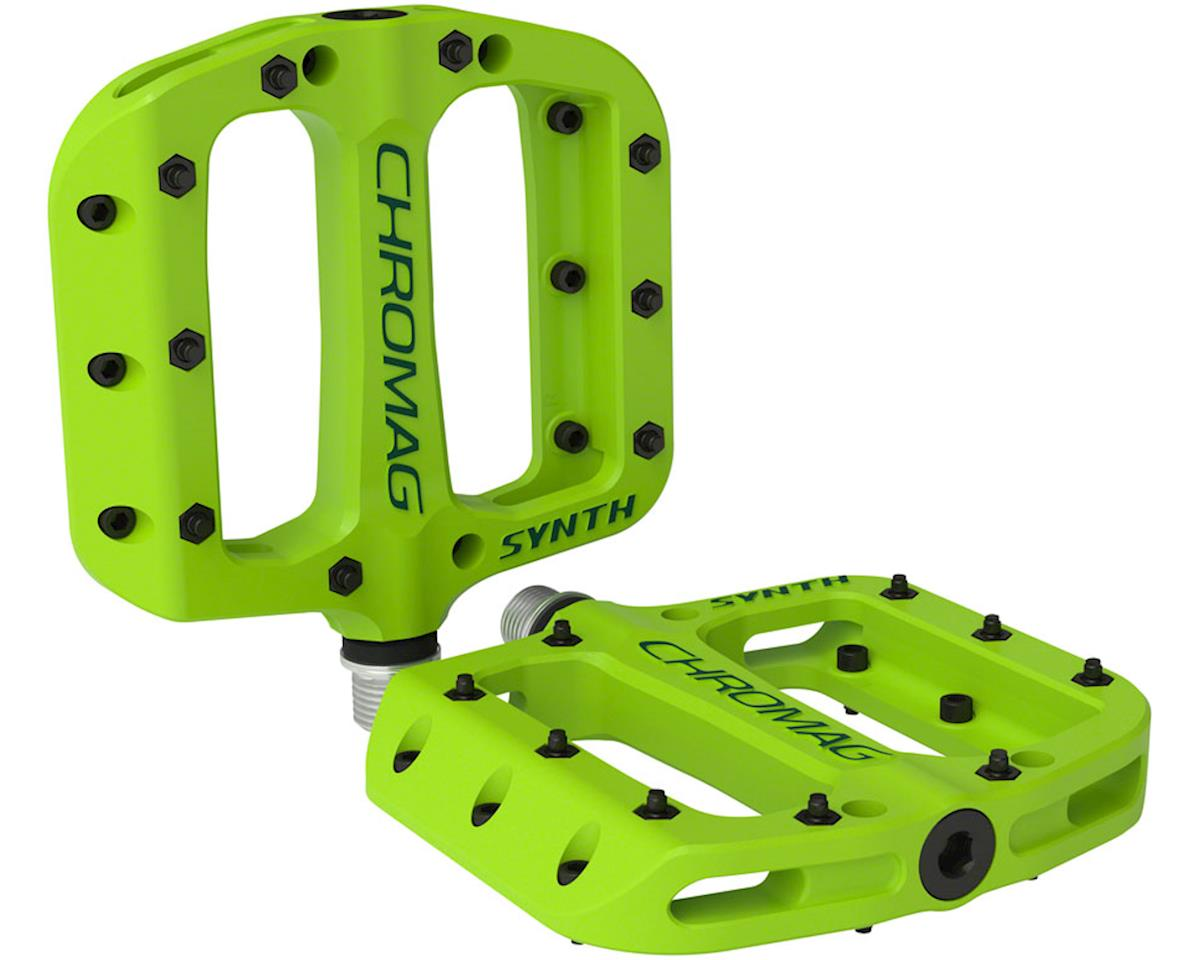 "Chromag Synth Composite Platform Pedals (Green) (9/16"")"