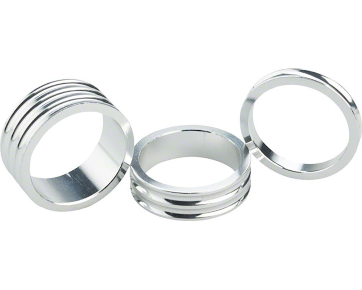 "Ciari Anelli 1-1/8"" Headset Spacers Silver 5mm, 10mm and 15mm Spacer Kit"