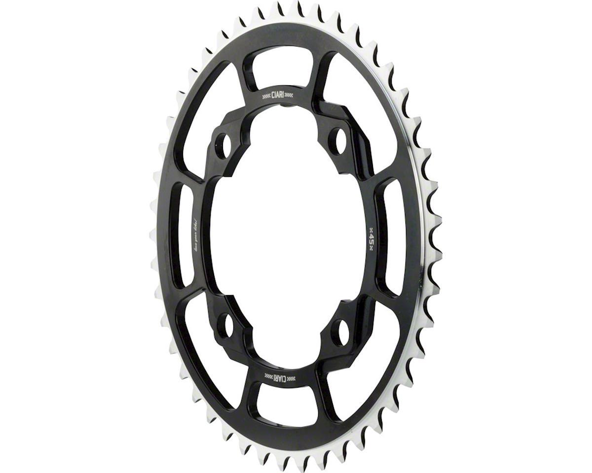 Ciari Corona 4 Bolt 7075 T6 Aluminum Chainring 45T Black