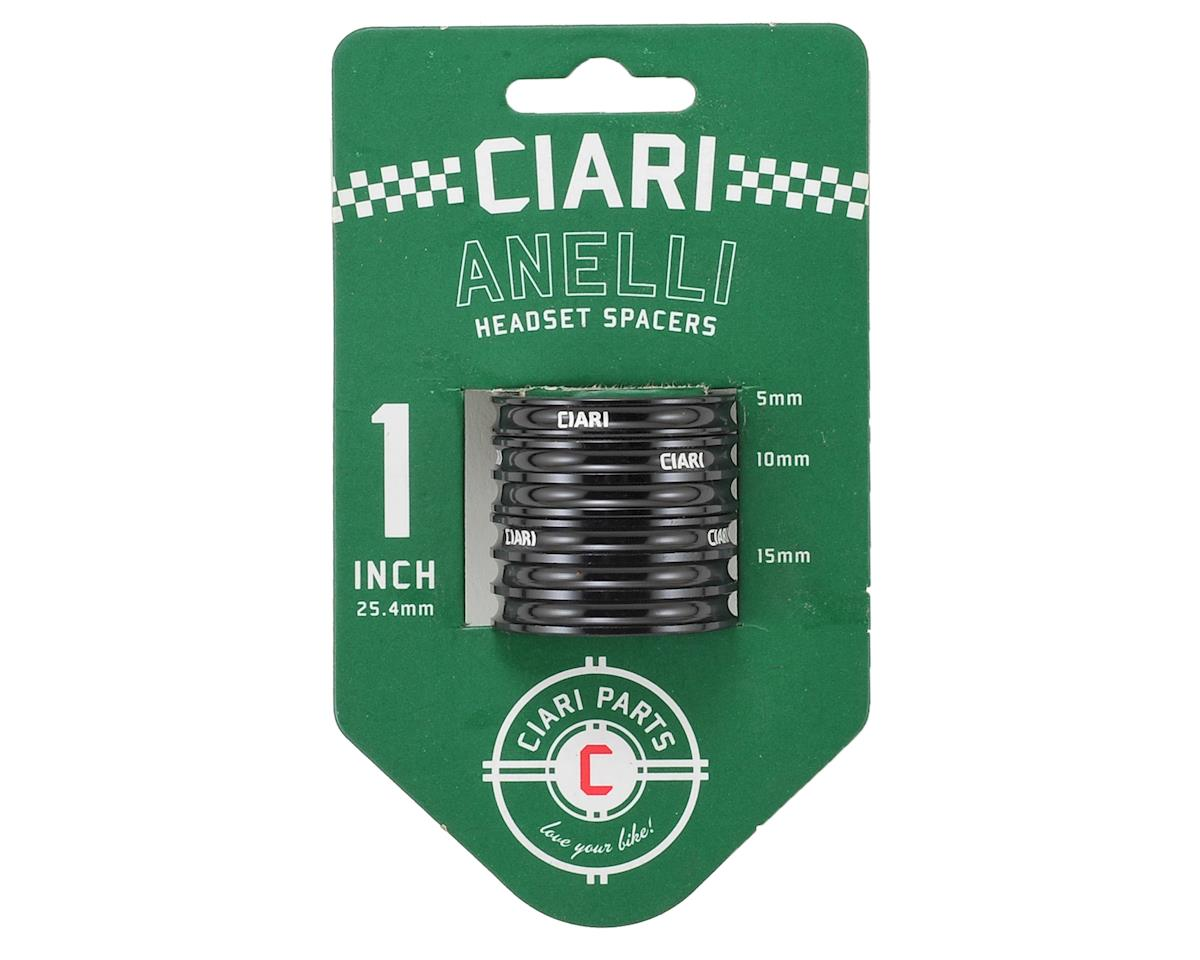 "Ciari Anelli 1"" Headset Spacer Kit (Black)"
