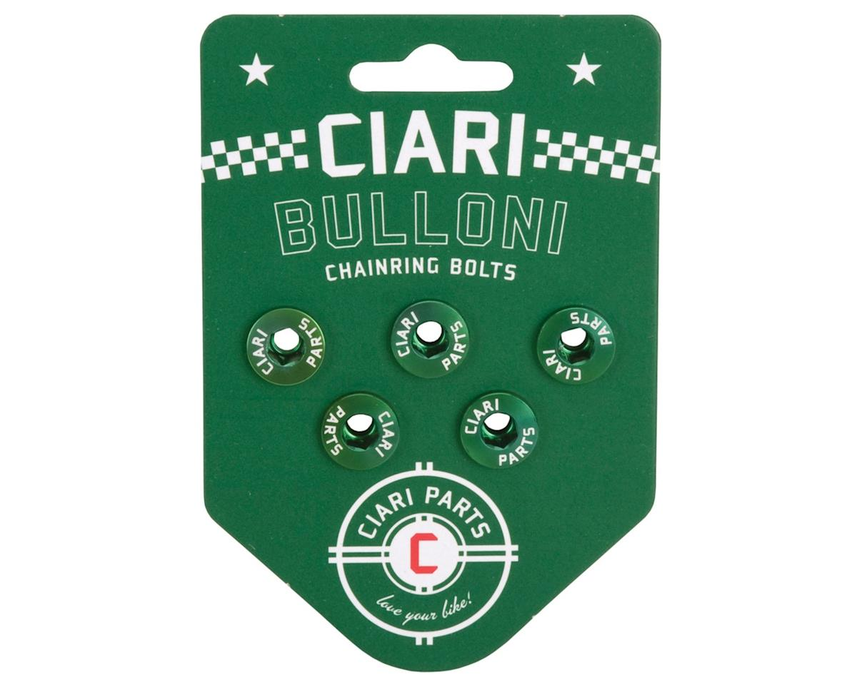 Ciari Bulloni Alloy Chainring Bolts (Green) (Short)
