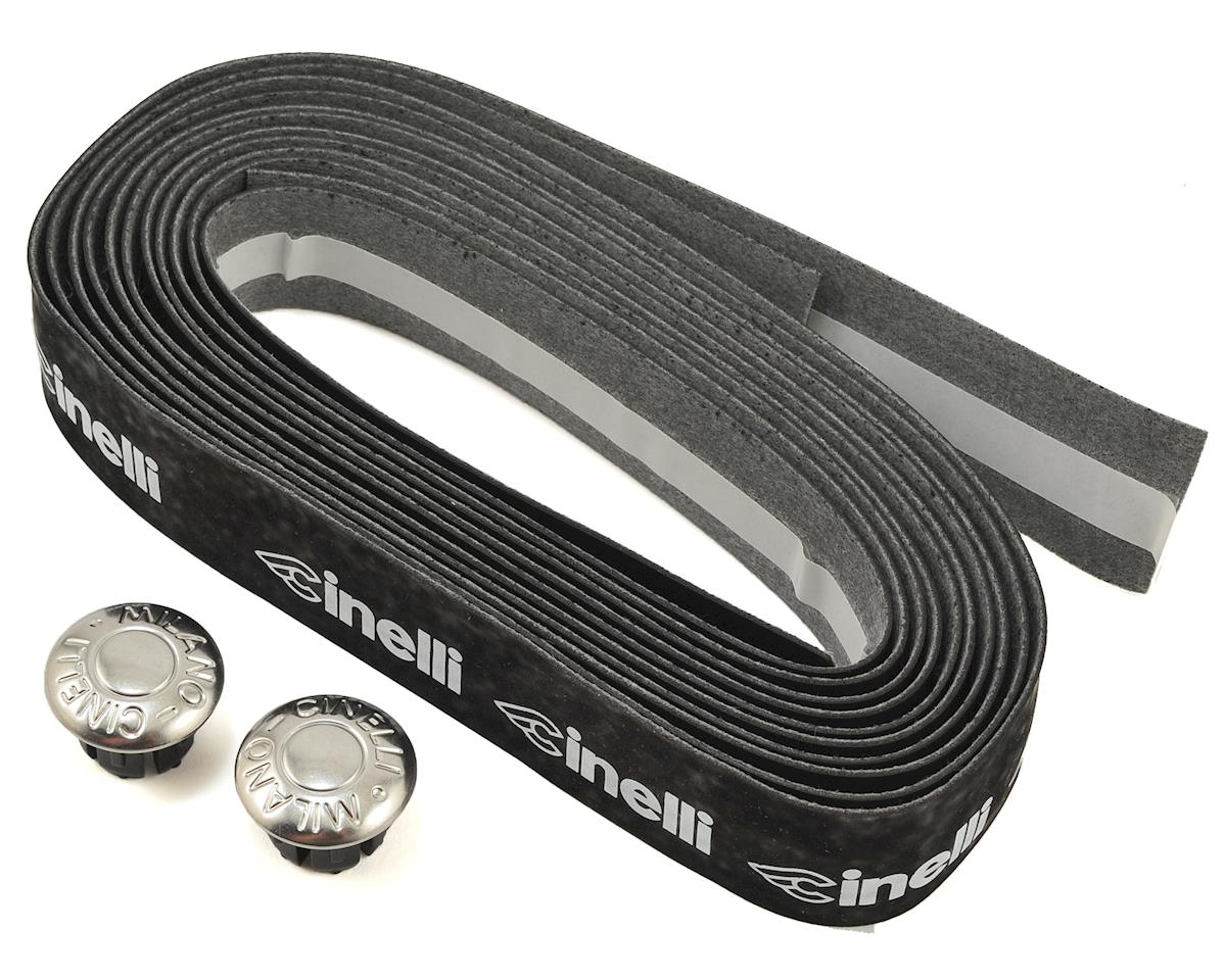 Cinelli Logo Velvet Ribbon Handlebar Tape (Black/White Logo)