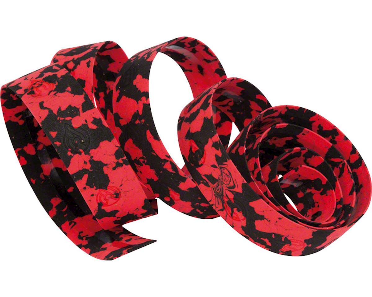 Cinelli Macro Splash Ribbon Handlebar Tape - Black/Red