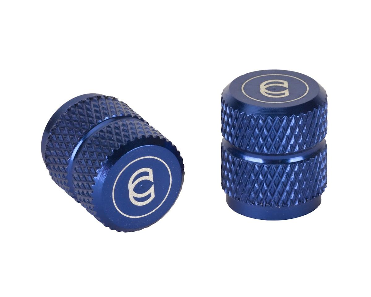 Cinema Alloy Valve Caps (Schrader) (Blue)